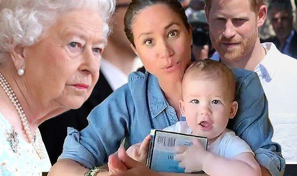 queen meghan harry archie