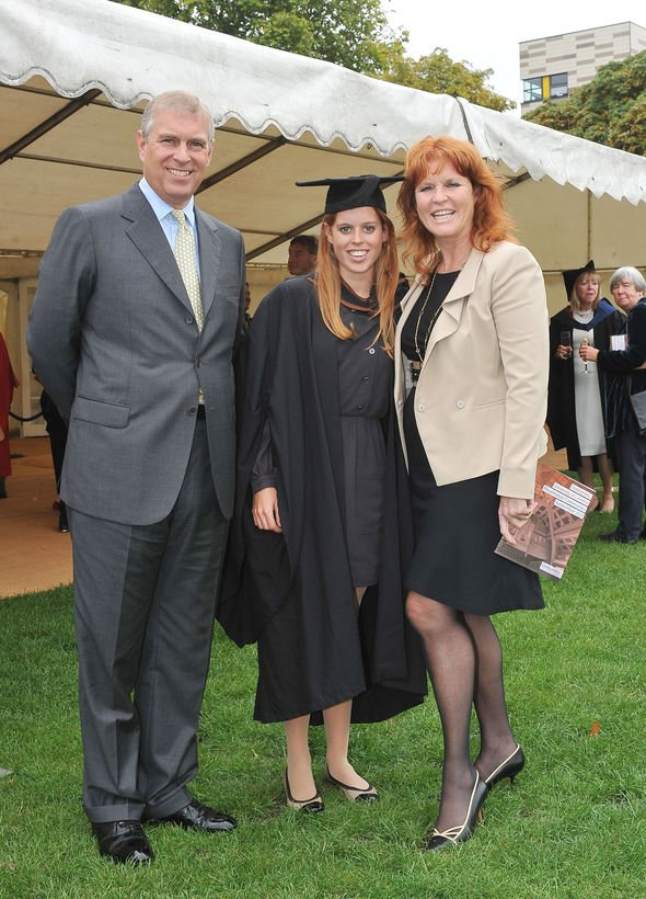 Royal Family: Prince Andrew, Princess Beatrice and Sarah Ferguson