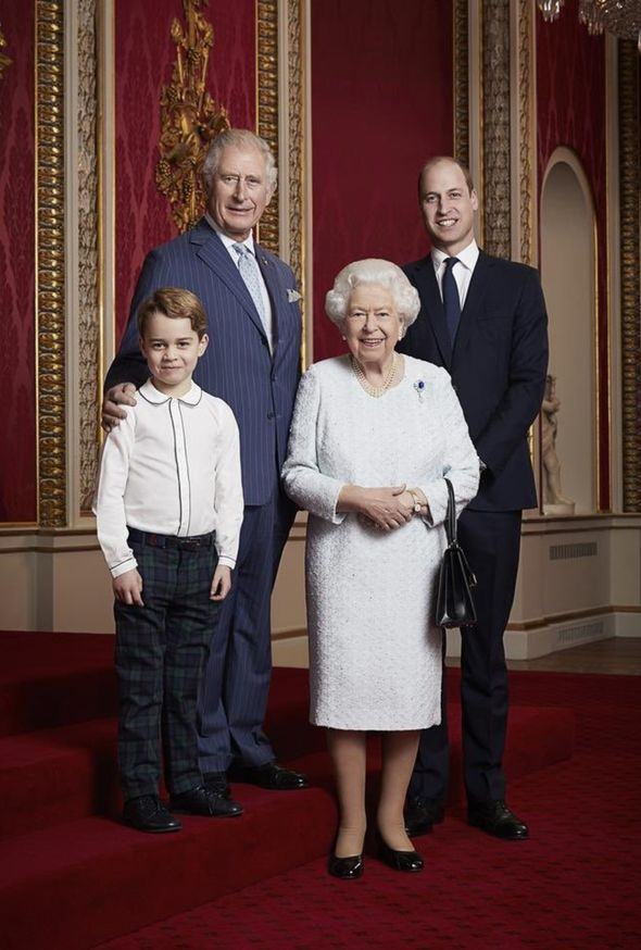 royal family portrait queen prince charles william george