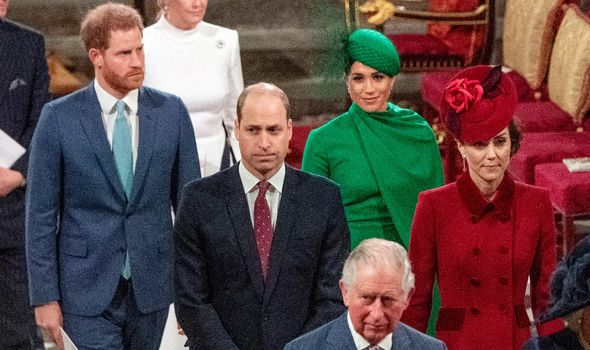 Royal Family at the Commonwealth Day Service