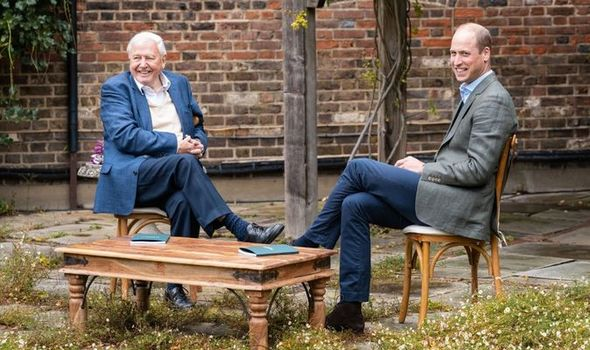 Sir David Attenborough and Prince William