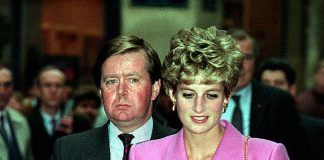 Loyal: Princess Diana with Ken Wharfe, her personal protection officer, in 1992.