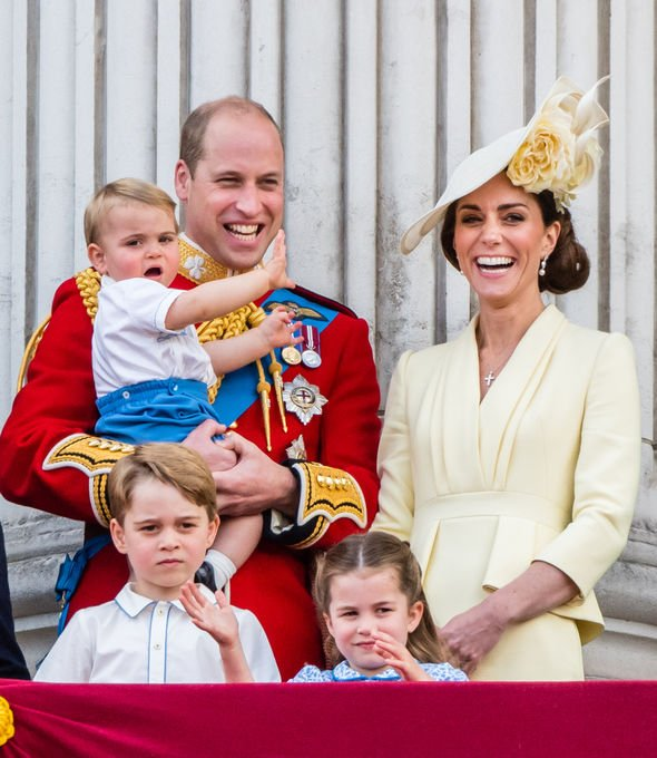 Duke and Duchess of Cambridge with their children