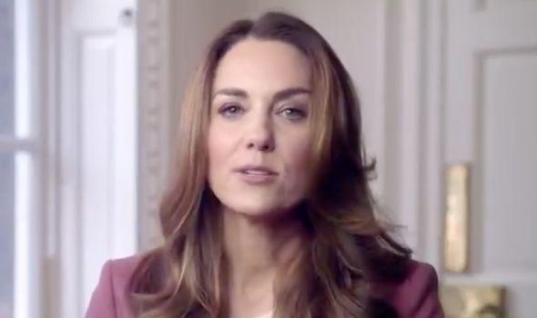 Kate Middleton giving speech