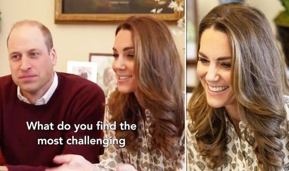 Kate Middleton wearing blouse with Prince William