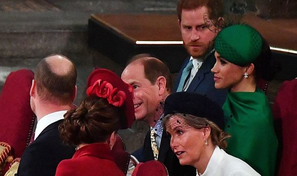 Kate Middleton with Meghan Markle at the Commonwealth Day service