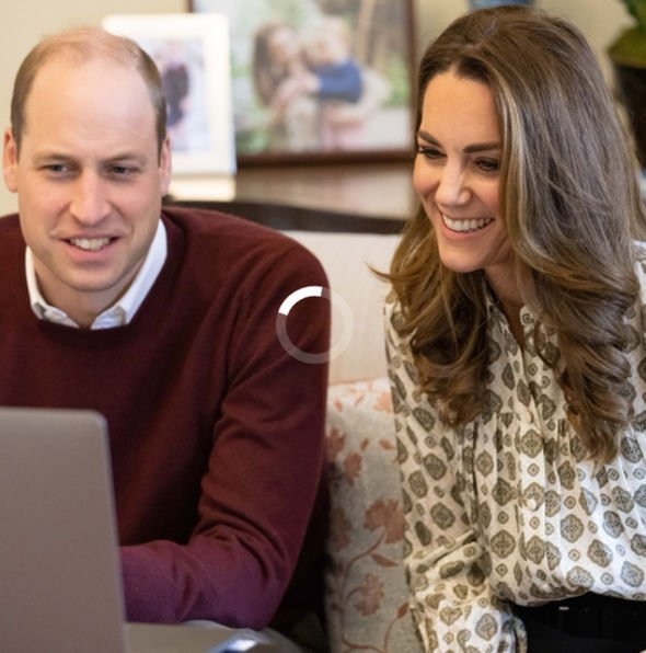 Kate and William speaking on the video call