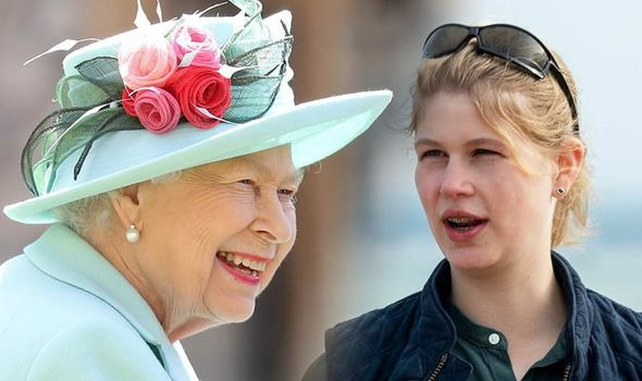 Lady Louise Windsor: Lady Louise and Queen