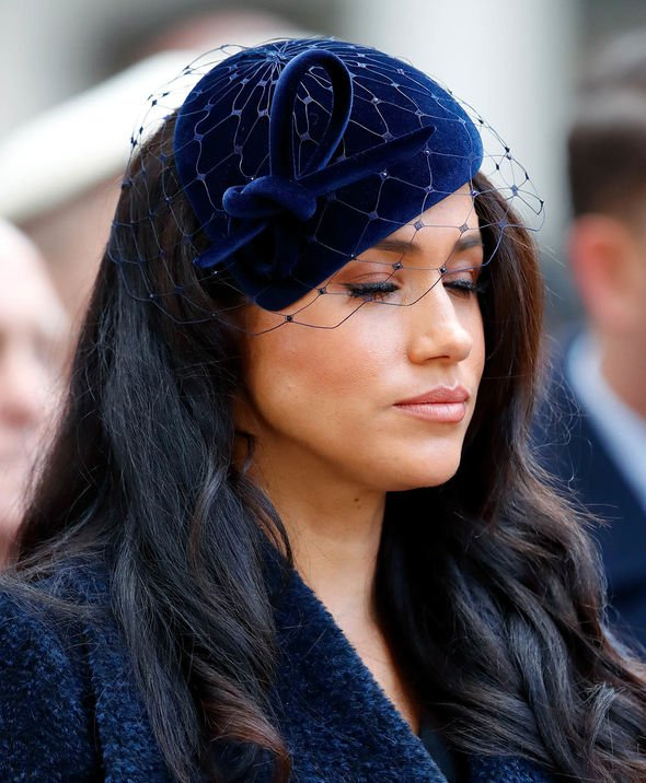 Meghan Markle miscarriage: Meghan at remembrance event