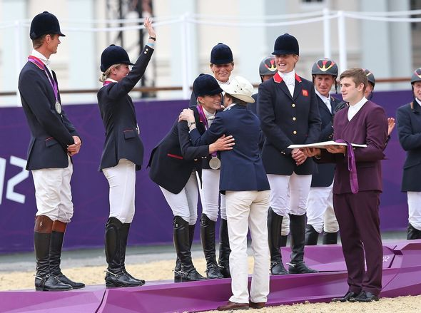 Olympic games: Anne pictured giving Zara her silver medal