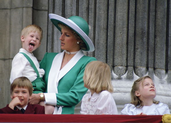 Prince Harry: A young Harry pictured with Diana