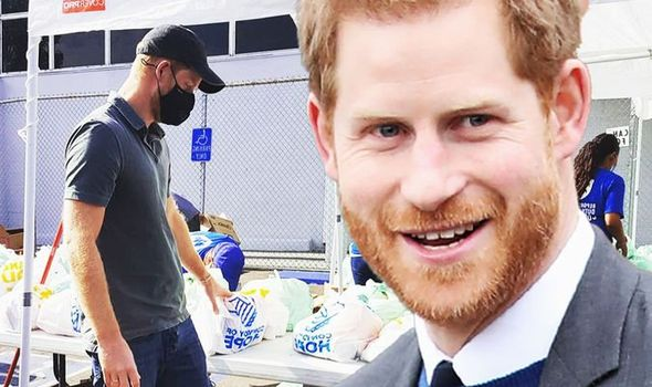 Prince Harry news pictures Meghan Markle LA veterans charity Royal Family