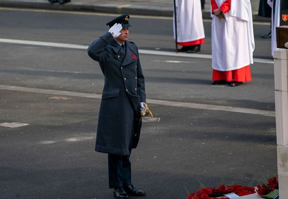 Prince William attends the National Service Of Remembrance