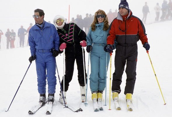 Princess Diana: Charles, Diana, Andrew and Sarah Ferguson pictured on a skiing holiday