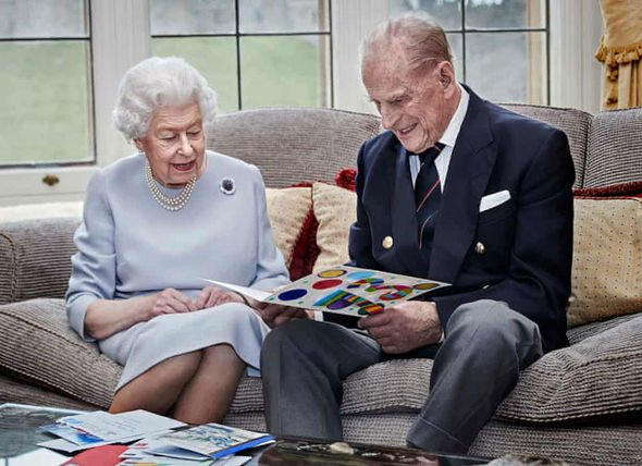 Queen Elizabeth II and Prince Philip on anniversary