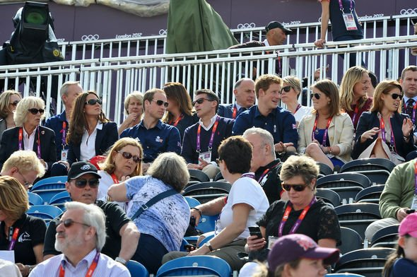 Royal Family: Members of the Firm pictured together during Zara's equestrian round