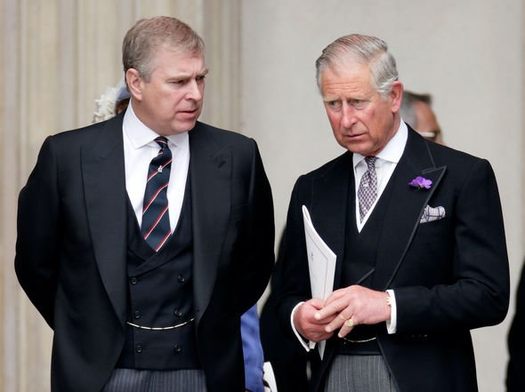 Royal siblings: Andrew and Charles, according to reports, don't get on very well