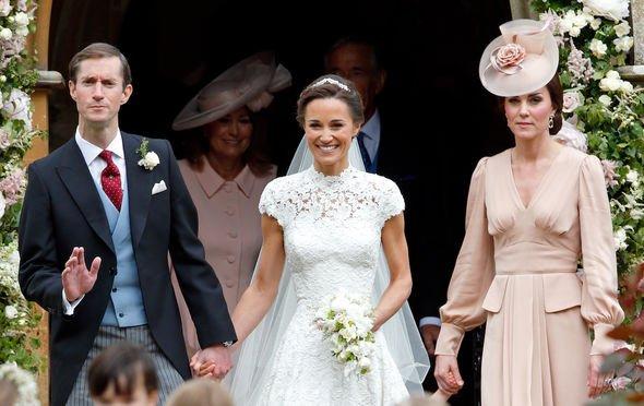 Royal wedding: Pippa at her wedding with James Matthews in 2017