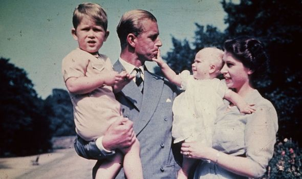 The Queen children Prince Charles and Princess Anne