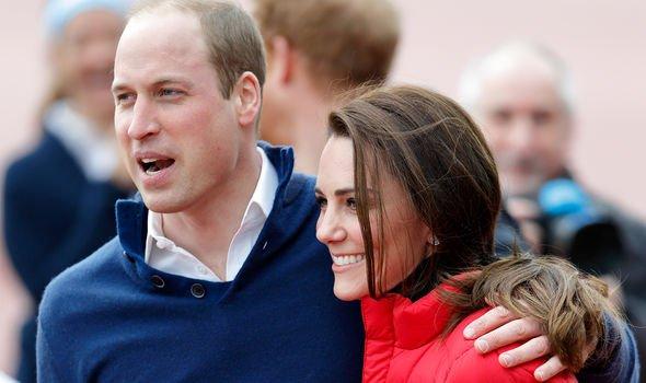 Prince William and kate hug