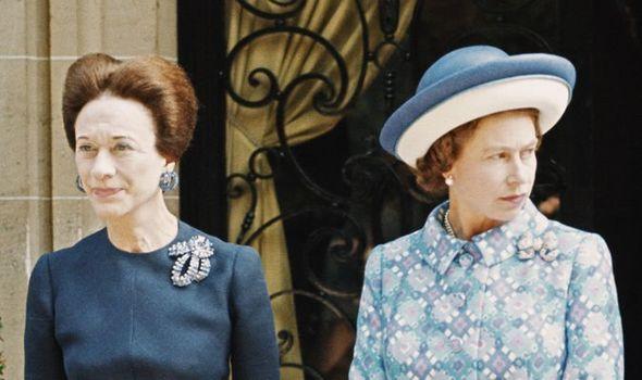 Wallis Simpson and Queen Elizabeth II in 1972