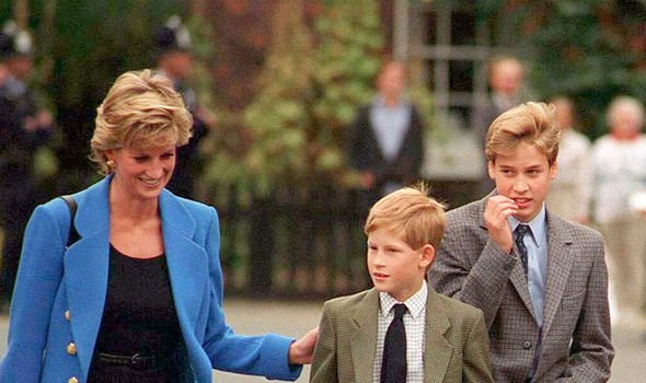 Diana was exceptionally close to her sons, Harry and William