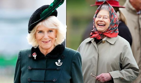 Camilla Parker Bowles and the Queen