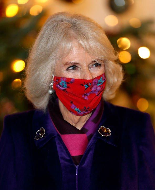 Camilla Parker Bowles wearing a mask