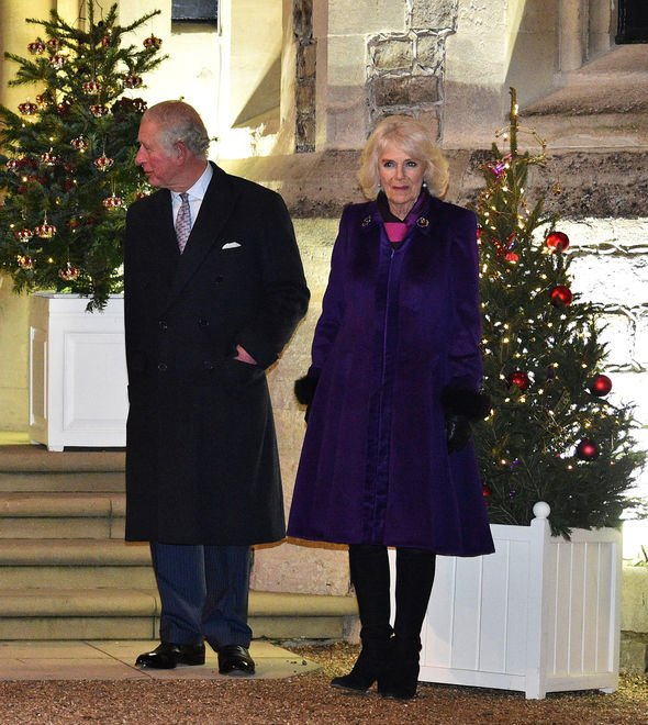 Charles and Camilla on Monday night