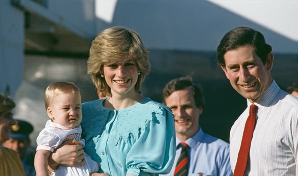 Diana, Charles and baby William during their tour of Australia back in 1983