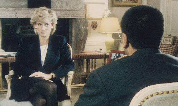 Diana during her bombshell 1995 interview with Martin Bashir