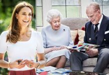 Kate Middleton and the Queen and Philip on anniversary