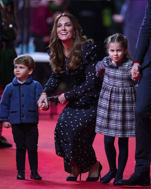 Kate with Charlotte and Louis