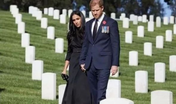 Meghan and Harry recently visited graves in LA