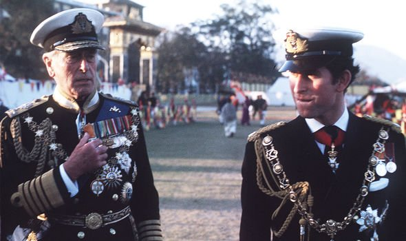 Lord Louis Mountbatten acted as a substitute grandfather to Prince Charles