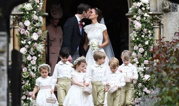 Pippa Middleton and James Matthews on their wedding day