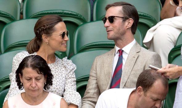 Pippa Middleton with James Matthews at Wimbledon