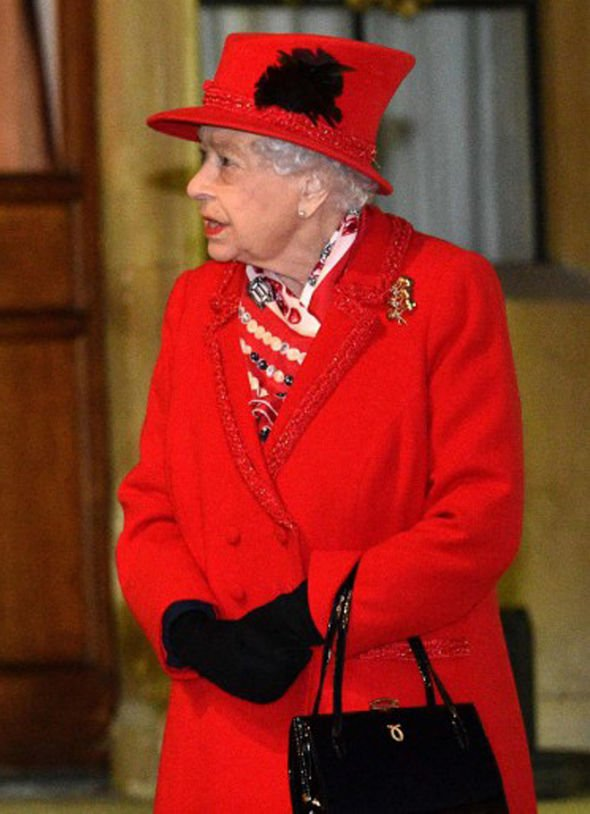 The Queen today at Windsor this evening