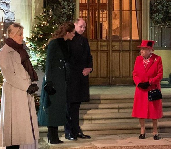 The Queen with Kate tonight