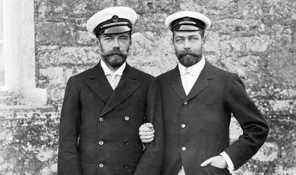 Tsar Nicholas II and Britain's King George V