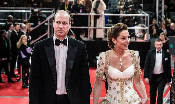 William and Kate arriving at the BAFTAs in February 2020