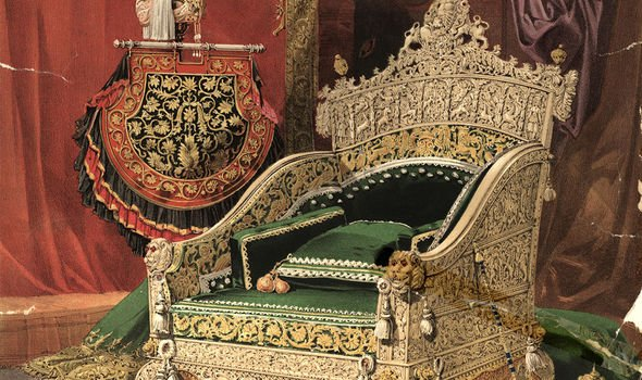 The ivory throne acquired by Queen Victoria during her reign, which is still allegedly owned by Buckingham Palace