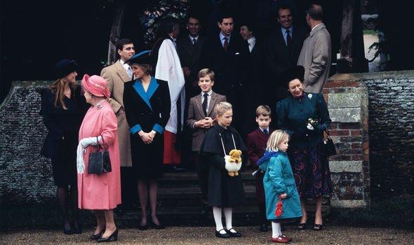 princess diana christmas royal family