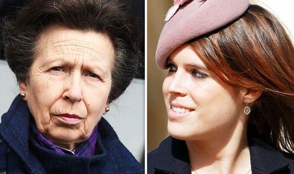 Princess Eugenie and Princess Anne