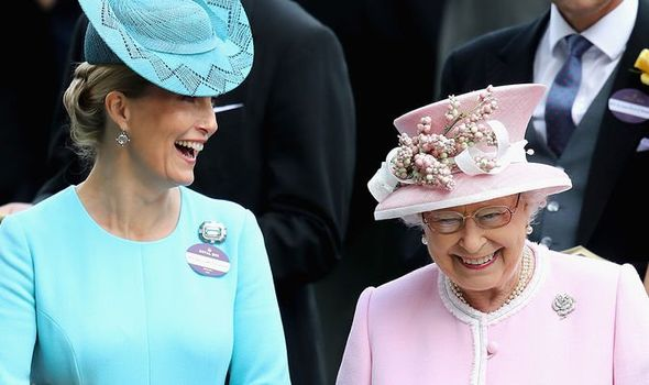 Sophie, Countess of Wessex, and her mother-in-law Queen Elizabeth II