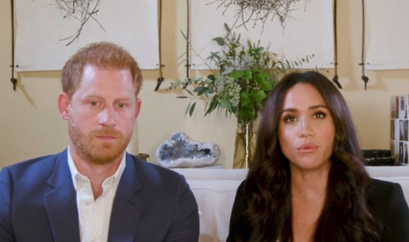 Meghan and Harry pictured in their new home in California
