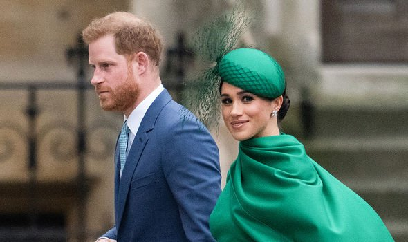 The Duke and Duchess of Sussex during their final royal engagement last March