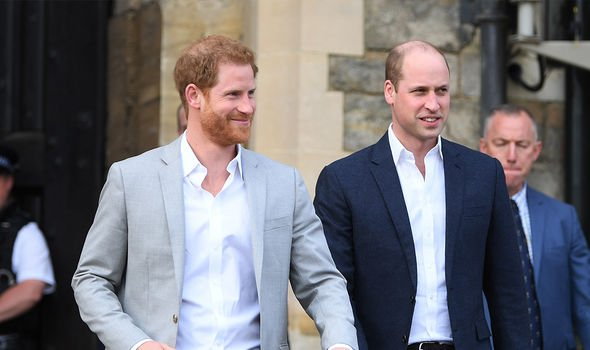 Harry and William are thought to have fallen out in recent years