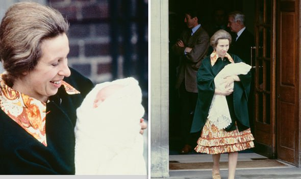 Princess Anne was the first royal mother to be pictured with her newborn on the Lindo Wing steps