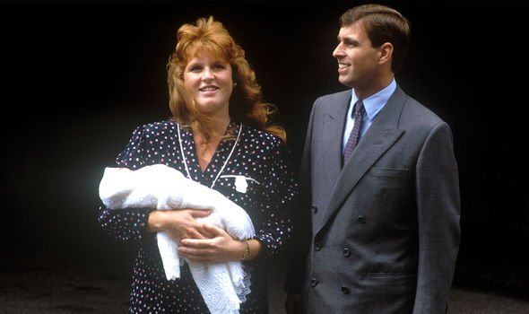 Sarah Ferguson and Prince Andrew with Princess Beatrice in 1988
